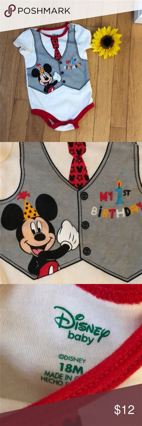 Free shipping on orders over $25 shipped by amazon. 🎉HP🎉 Disney My First Birthday Onesie ☝🏼 | Onesies, Disney ...