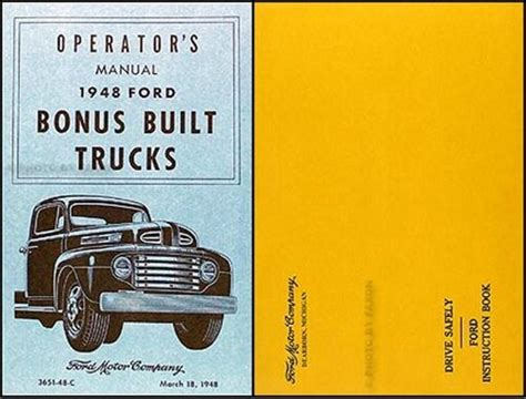 ford pickup  truck owners manual  envelope