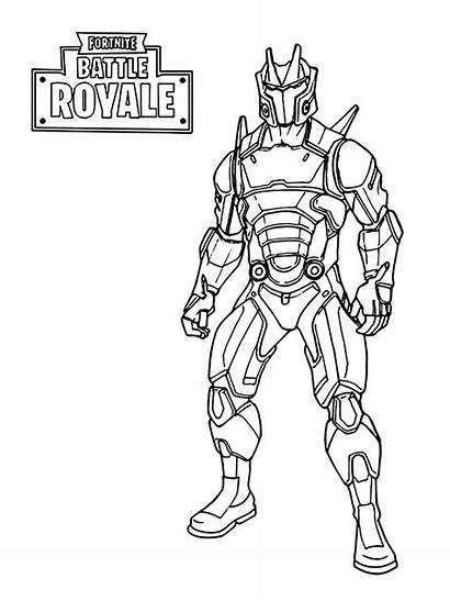 Fortnite Colorier Coloriage Dessin Royale Battle Omega