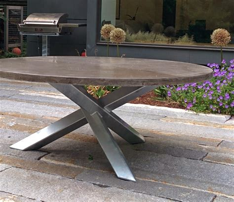 magma metalworks inc custom patio table base and grill