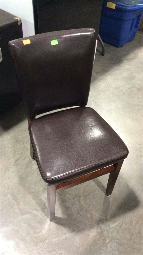 dark brown leather desk chair brown leather like office chair with dark stained