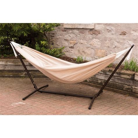 Hammocks With Stands by Vivere 9 Ft Combo Sunbrella Hammock With Steel Stand In