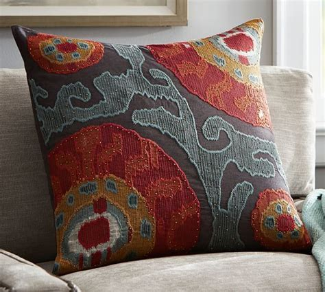 Houston Pottery Barn by Houston Cropped Suzani Pillow Cover Mccollough Pillows