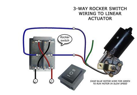 Way Rocker Switch Wiring Motors Linear Actuators