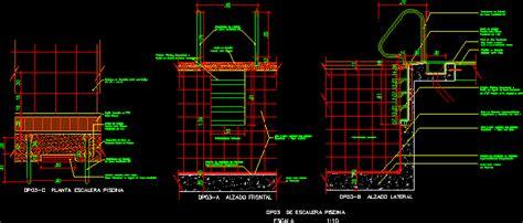 swiiming pool stair details  autocad cad  kb