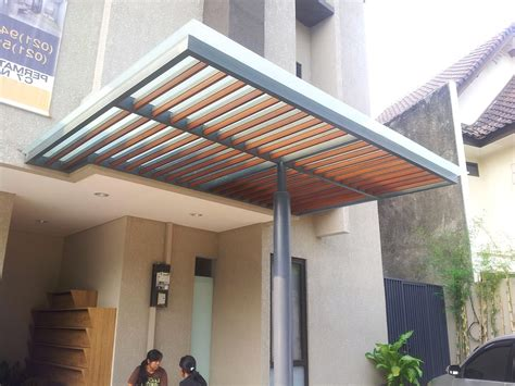 terbaru  model rumah minimalis kanopi beton