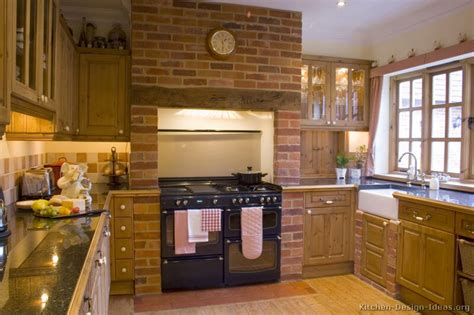 brick kitchen ideas country kitchen design pictures and decorating ideas