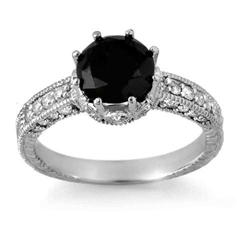 astonishing black diamond wedding rings for women show your personality black engagement rings