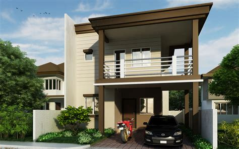 storey residential house design phd  pinoy house designs