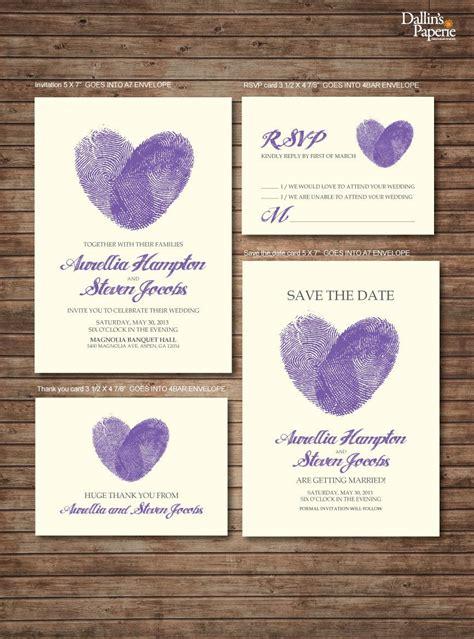 wedding invitation printables finger print heart