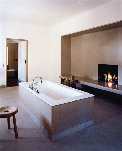stylish bathrooms  fireplaces homemydesign