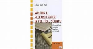 Writing A Research Paper In Political Science  A Practical
