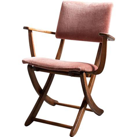 chaise italienne pliante en marron velours  cuivre