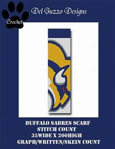 Buffalo Sabres Scarf Crochet Graph Graphghan Pattern Word