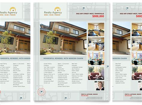 microsoft word real estate flyer template free real estate brochure templates free renanlopes me