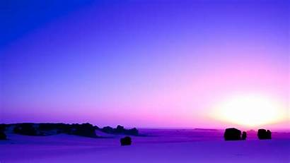 Sunrise Purple African 4k Horizon Sahara Algeria