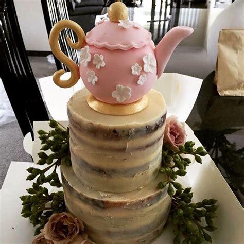 kitchen tea cake ideas naked kitchen tea cake teapot nakedcake kitchenteacake cavalicious patisserie cafe