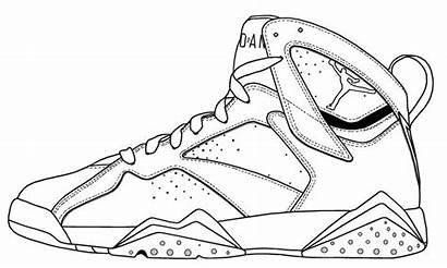 Jordan Coloring Pages Shoe Shoes Jordans Nike