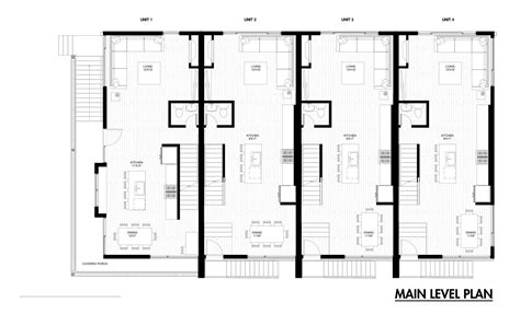 split floor plan house plans emerson rowhouse meridian 105 architecture archdaily