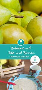 Baby Abendbrei Rezepte : reisbrei mit milch und frischer birne rezept babybrei und beikost rezepte und tipps ~ Yasmunasinghe.com Haus und Dekorationen