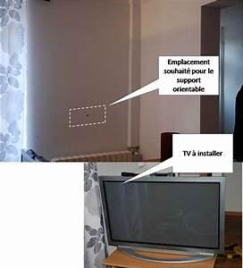 Fixer Une Télé Au Mur : fixation support tv orientable sur du placo ~ Premium-room.com Idées de Décoration