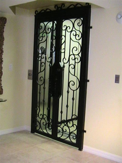 Interior Iron Doors by Forge Iron Designs Wrought Iron Elevator Door
