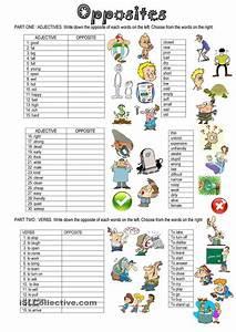 Worksheet Opposites Words