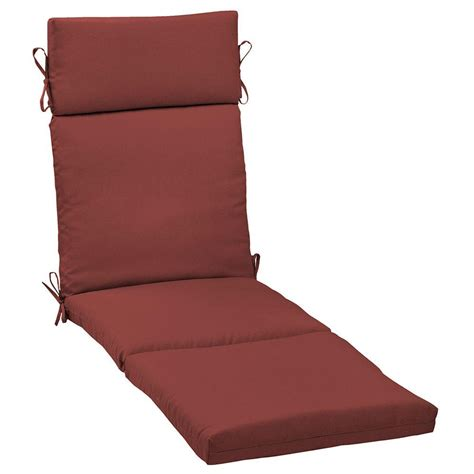 patio lounge cushions hton bay chili solid outdoor chaise lounge cushion
