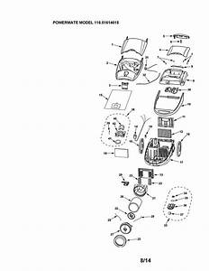 Kenmore 11621614015 Canister Vacuum Parts