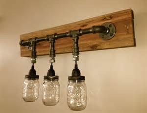 mason jar vanity light mason jar wall light by chicagolights