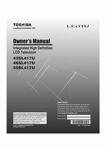 Download Free Pdf For Toshiba 46sl417u Tv Manual