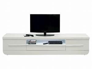 Meuble Bas Salon : meuble tv floyd coloris blanc conforama pickture ~ Teatrodelosmanantiales.com Idées de Décoration