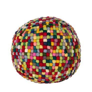 pouf multicolore picerno  laine chambre denfant