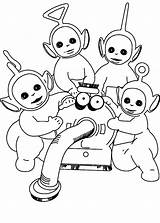 Coloring Teletubbies Games Popular Klt sketch template