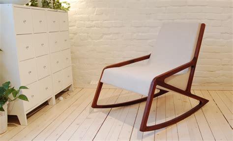 classical rocking chair in scandinavian design