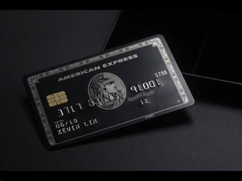 """Maybe you would like to learn more about one of these? """"The Black Card"""" American Express Centurion Card (Replica) - YouTube"""