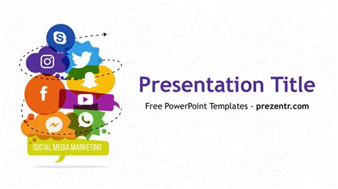 social media powerpoint template bountrinfo
