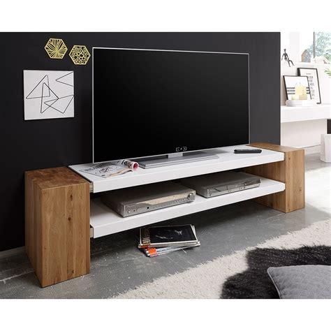 tv board massiv tv rack janes tv board lowboard in wei 223 matt lack mit beton oder eiche massiv ebay