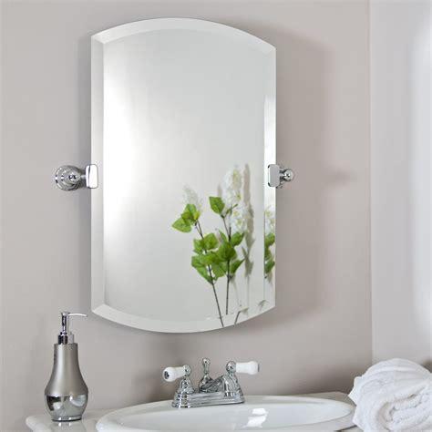 brushed nickel bathroom mirror  sweet wall decoration