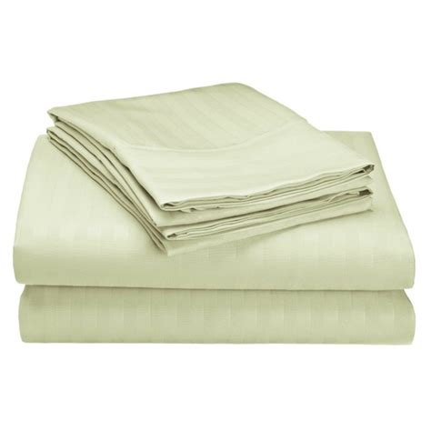 4 1800 series embossed striped bed sheet collection