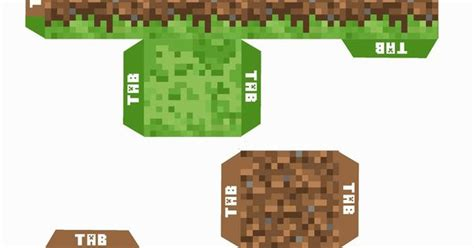 Minecraft Printable Grass And Dirt Block For The Enderman