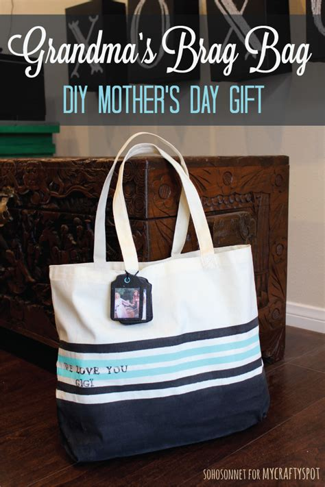 mothers day gift brag bag diy tote sohosonnet