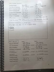 Chem 1211 Lab Manual 2017 Enthalpy Of D