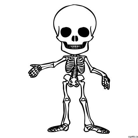 cartoon skeleton drawing   steps  photoshop
