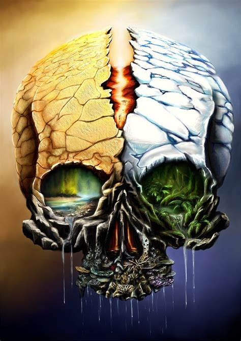 nature skull contest threepwoody deviantart