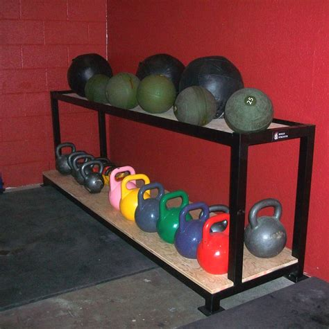 kettlebell rack storage ball med gym weight racks garage wall shelving dumbbell vertical