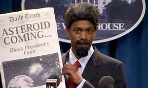 [Image: Dave Chapelle (a Black man) at a podium in...