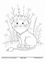 Coloring Lion Smiling Worksheet Letter King Sheet Jungle Kidzezone Animal Pdf Activity Fun sketch template