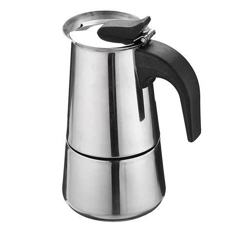 Which italian coffee maker is best? 100ML Italian Moka Espresso Stove Percolator Coffee Maker ...