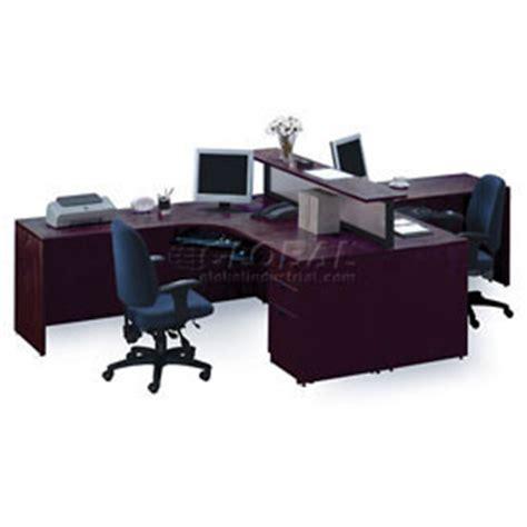 two person peninsula desk desks office collections storlie 2 person l desk